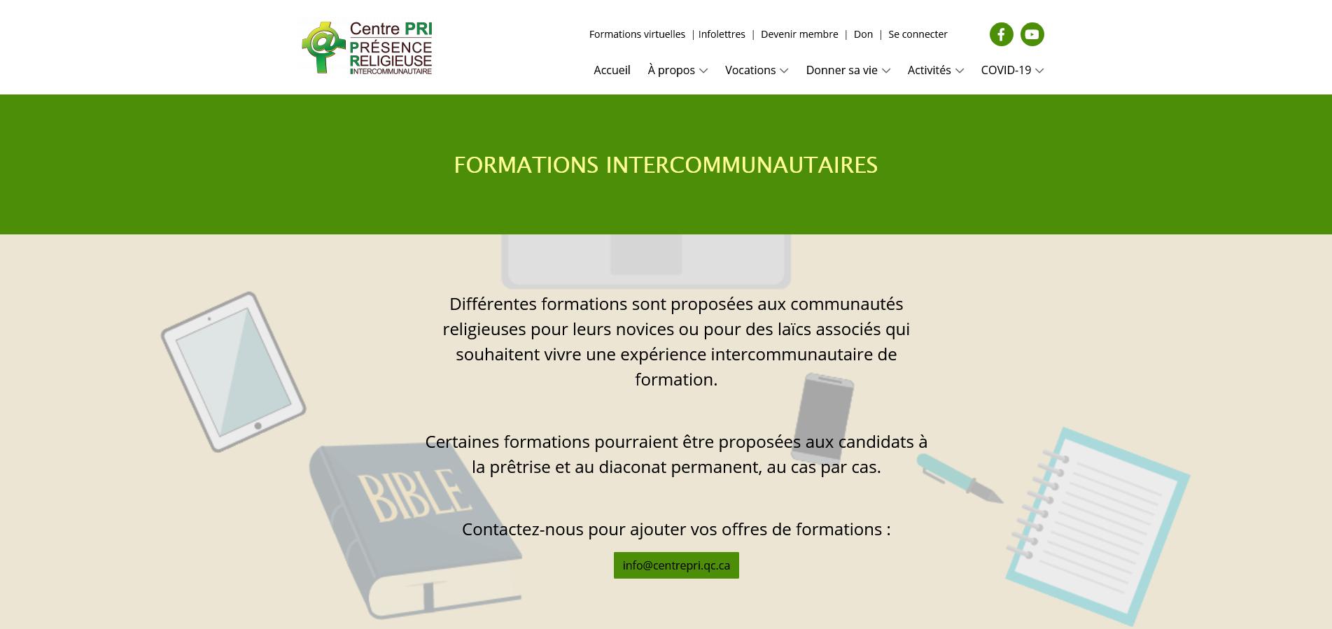 Formations intercommunautaires