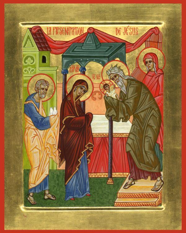 Carte de prière - recto (icône)